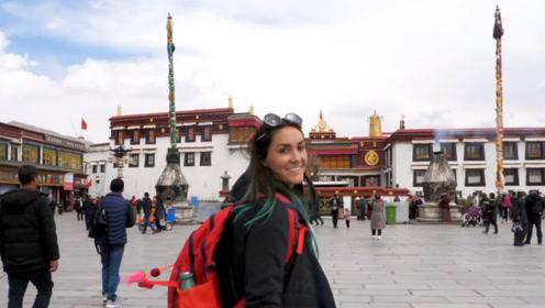美国女孩在西藏拍的视频引海外热议:和西方媒体报的不一样啊?