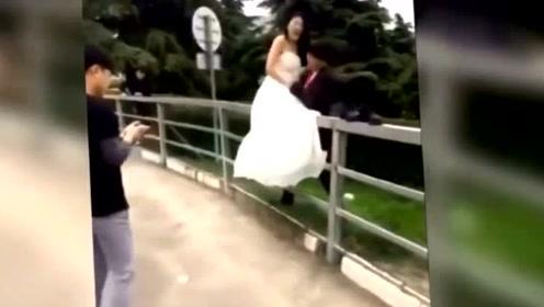 这新娘看着都疼,心疼啊!