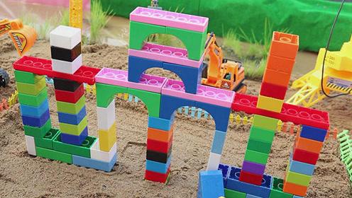 用积木搭建城堡