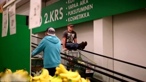 极限运动剪辑,美女单手举重、高难度特技还有人在超市干这种事