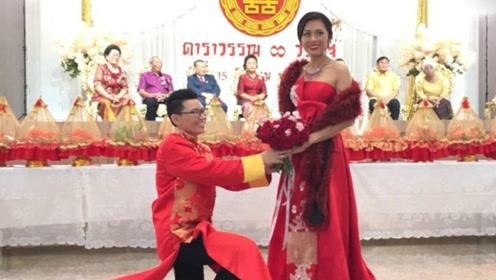 泰女同性情侣举行中式婚礼 聘礼黄金等同新娘体重数字