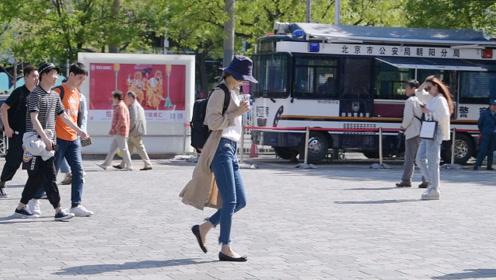 春天里那些喜欢平底鞋姑娘,希望能够更舒服的逛街