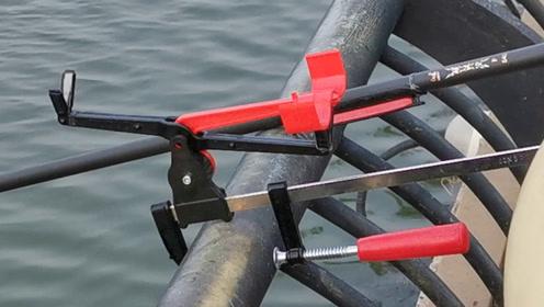渔具信息:一种新型的桥钓竿架,自由开合,方便实用!