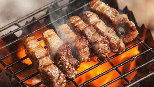 韩国野炊小哥:烤肉和葱串一根签子,清酒放冰窟窿里冰!太爽了!