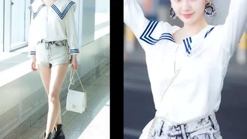 """水手服的3种吸睛风格,点亮初秋美丽,郑合惠子穿""""明亮""""光彩照人!"""