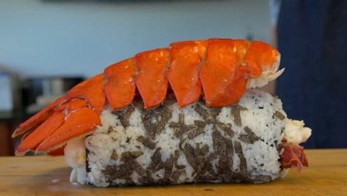 用3000元大龙虾做寿司,一顿吃了半个月工资,简直壕无人性