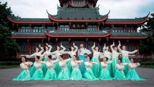 中国舞《若雪》唯有你,踏浪舞着婆娑!