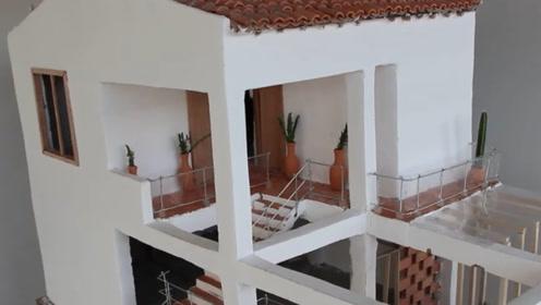 国外最牛砌匠自建迷你大厦,过程太过舒适,成品都能拿去拍卖