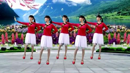 经典情歌广场舞《今生永相随》简单优美32步,好听好看又好学