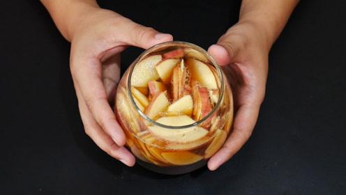 苹果放进白醋里泡一泡,解决了爱美女生的一大困扰,学到就是赚到