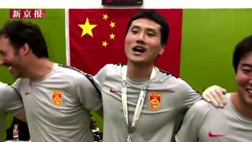 我和我的祖国|分享胜利喜悦 国足U-15小将晋级后高唱这首歌