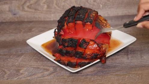 """外国餐厅推出""""烤西瓜"""",一份卖550人民币,表面黑不溜秋的!"""