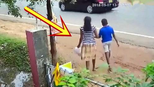 女子和儿子刚出门就阴阳相隔,这一切都是命,监控拍下全程!