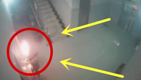 平静的楼梯口,意外正悄悄到来,主人却毫无踪影!