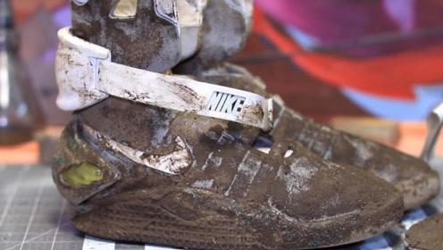 小伙捡一双17500美元的耐克鞋,亲自动手翻新,效果太惊艳了!