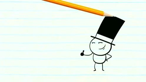 创意动漫搞笑动画,铅笔人不爱留长发,要扮绅士