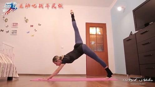 背部腹部一起练!俄罗斯健身达人的动作看起来就不简单