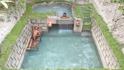 两兄弟徒手挖出一座豪华泳池,跳下水的那一刻,才是震撼的开始!