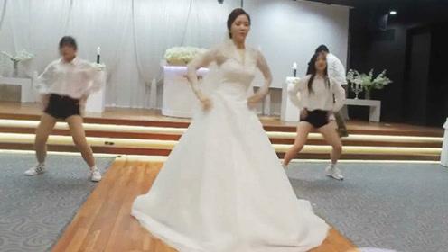 一跳成名!新娘带着两个伴娘婚礼现场热舞《Samsara》