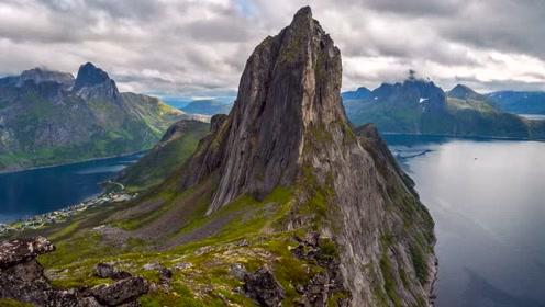 神奇的大自然风景,茂盛碧绿的山峰,美丽至极的景色