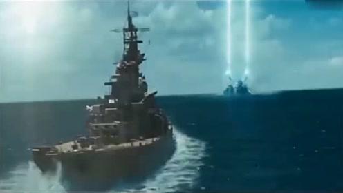 船开到一半,突然冒出了机械怪物,只能开战了