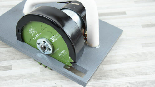 自制895马达电圆锯改进版 DIY木工切割机