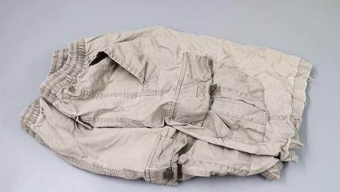 旧裤子丢了可惜,把口袋剪下来,制作1个随意粘贴的储物袋,真棒