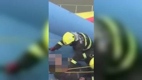 男子爬桥轻生 励志反转喊话消防员:我不能死