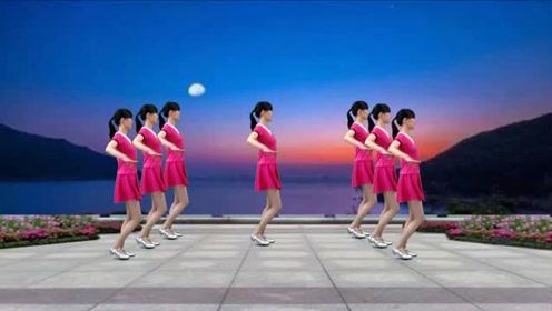 网红歌曲《月下情缘》DJ版32步广场舞,节奏动感,好听更好看