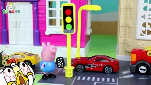 小朋友不遵守交通规则,闯红灯在马路上玩耍,这实在是太危险了!