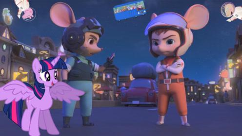 【玩具故事】舒克贝塔发现校车失踪找紫悦帮忙 去外太空解救小猪佩奇