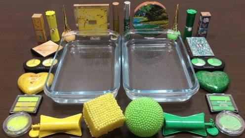 双色化妆品PK,两种不同款式的水晶泥材料,自制无硼砂史莱姆