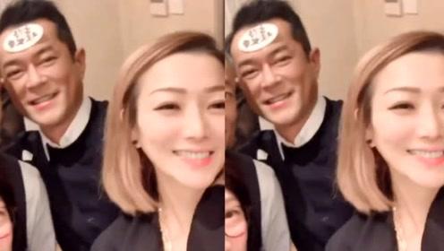 """郑秀文晒古天乐生日照发际线瞩目 网友感慨""""男神老了"""""""