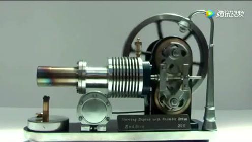 斯特林发动机,仅需一小团火就能驱动