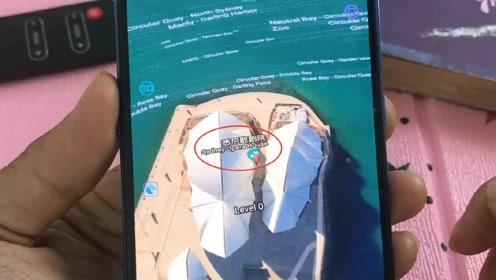 手机3D卫星实景地图,太强大了,家乡村口鱼塘大榕树都清晰可见