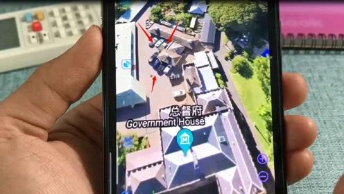 手机高清3D实景地图,三维立体超强大,地面的车子都看得一清二
