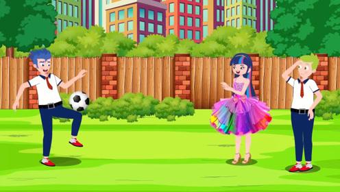 男孩暗恋的女孩喜欢足球,于是苦心练习踢足球,学成后发现女孩又爱上了画画