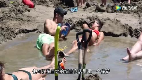 这个海滩竟是热的!游客天天去泡免费温泉!简直太羡慕