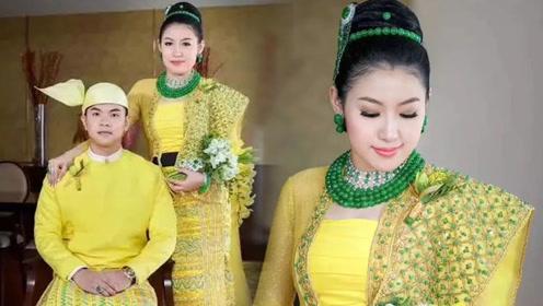缅甸土豪嫁女:全身翡翠价值5亿 伴娘每人一条满绿项链