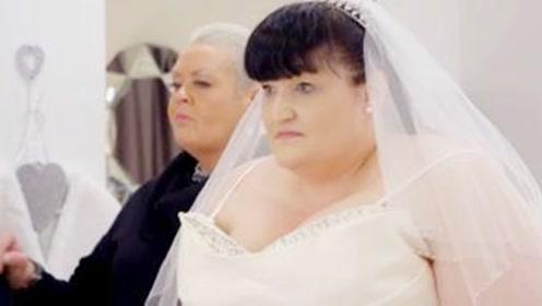 胖女孩结婚不敢穿婚纱,换上特制服装后,老母亲激动落泪
