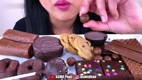吃播咀嚼音催眠音巧克力