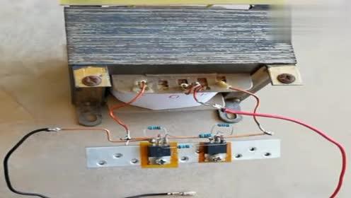 老师傅自制,12伏转220伏的升压逆变器,配有电路图,效果杠杠的