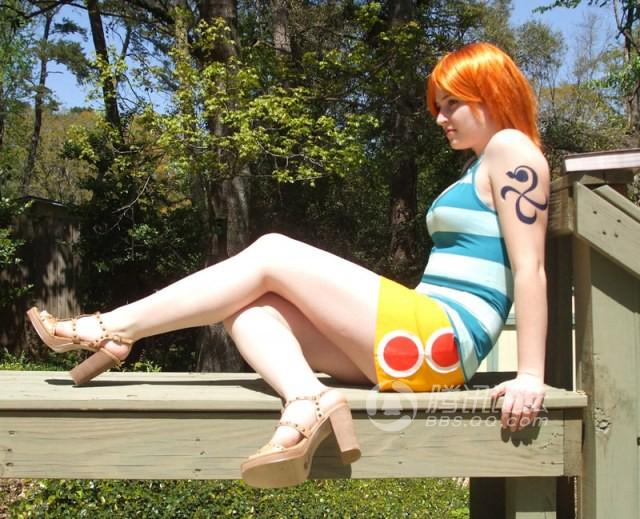 海贼王美女版cosplay,看看你的性感女神胸器变了吗 powered高清图片