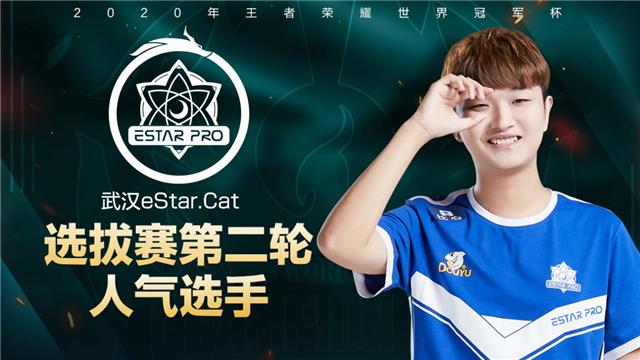 世冠选拔赛第二轮人气选手:武汉eStarPro.Cat