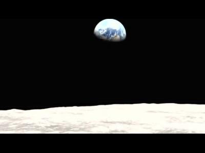 从月球上看地球