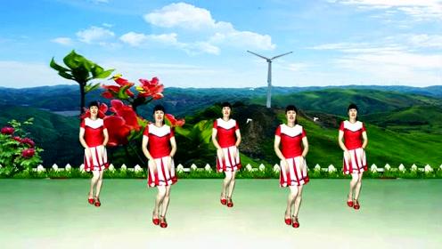 场舞_广场舞《山里红》老歌新跳,旋律欢快,优美大气,送给你!