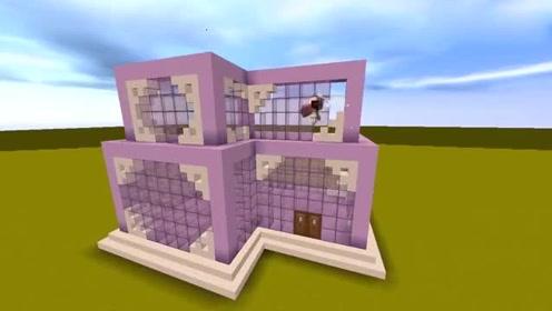 迷你世界:教你建少女心別墅,連帶游泳池古風涼亭,你學會了嗎